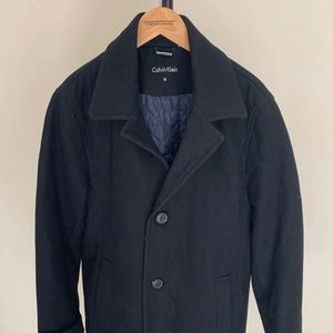 Calvin Klein wool blend Overcoat M